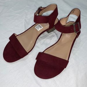 Brash Maroon Sandals NWOT